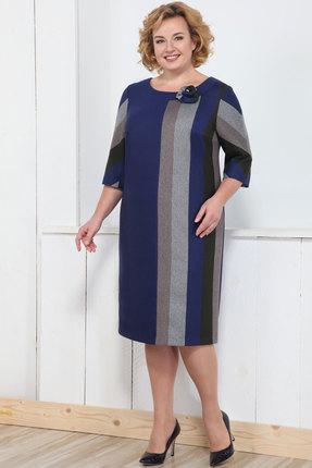 Купить Платье Bonna Image 310 синий, Платья, 310, синий, 62% ПЭ, 33% Вискоза, 5% Спандекс, Мультисезон