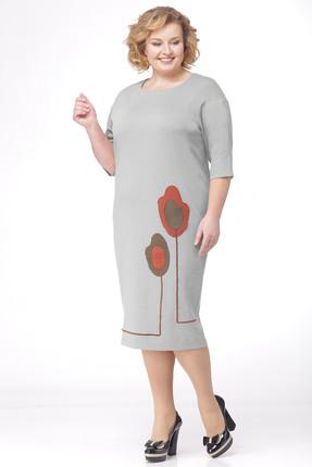 Купить Платье Michel Chic 693 серый, Платья, 693, серый, Состав: Трикотаж, ПЭ 60%, Вискоза 20%, лайкра 20%, Мультисезон