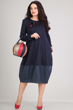 Купить Платье Andrea Style 0046 синий, Платья, 0046, синий, пэ 95%, спандекс 5%., Мультисезон