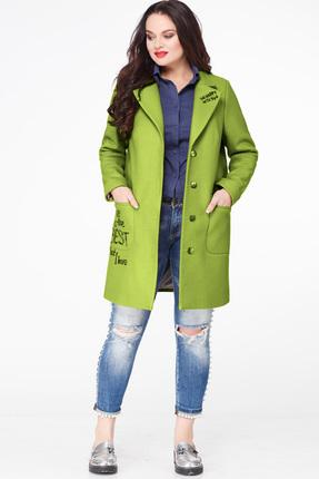 Купить со скидкой Пальто Erika Style 587-1 зеленый