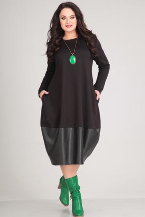 Платье Andrea Style 0045 черный, Платья, 0045, черный, пэ 95%, спандекс 5%., Мультисезон  - купить со скидкой