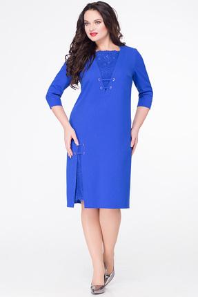Купить Платье Erika Style 590 василек, Платья, 590, василек, вискоза 72%, ПЭ 25%, спандекс 3%, Мультисезон