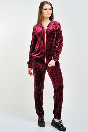 Купить со скидкой Спортивный костюм Danaida 1371 темно-бордовый