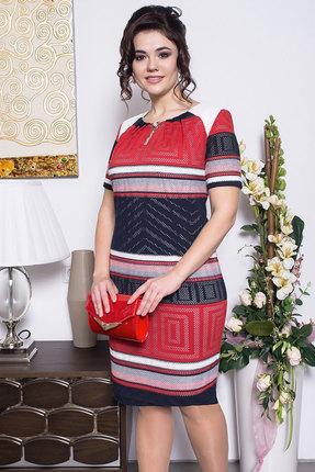 Купить Платье Solomeya Lux 425 красный, Платья, 425, красный, хлопок-58%, п/э-40%, эластан-2%, Мультисезон