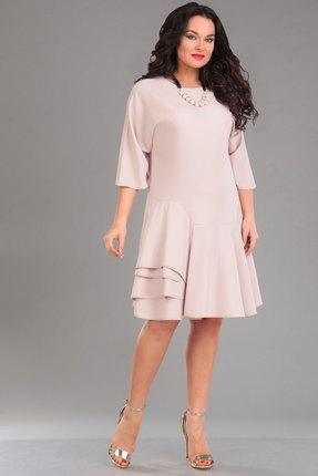 Купить Платье Ива 972 кремовый, Платья, 972, кремовый, плательная 70% п/э, 25% вискоза, 5% спандекс, Мультисезон