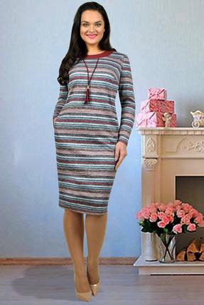 Купить Платье Тэнси 229-1 полоска (новый), Платья, 229-1, полоска (новый), 64% вискоза, 34% п/э, 2% эластан, Мультисезон