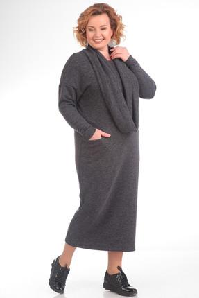 Платье Pretty 613 серый