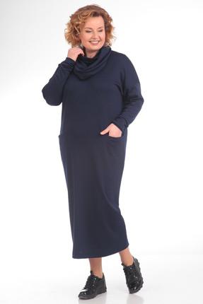 Платье Pretty 613 темно синий
