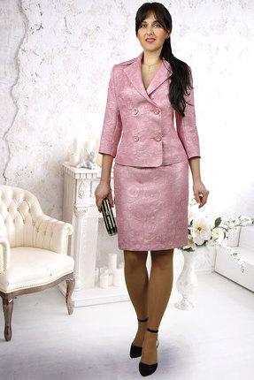 Купить Комплект юбочный Миа Мода 882-1 розовый, Юбочные, 882-1, розовый, Жакет: ПЭ 55 %, вискоза 40 %, спандекс 5% Подкладка ПЭ 100%, Мультисезон