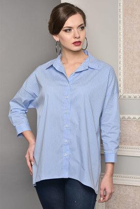 Рубашка Lady Style Classic 1383 голубой, Рубашки, 1383, голубой, Хлопок 72%+ПЭ 25%+ПУ 3%, Мультисезон  - купить со скидкой