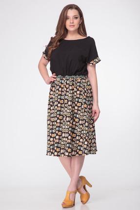 Купить Платье Michel Chic 677 черный, Платья, 677, черный, 60% полиэстер, 40% вискоза, Мультисезон