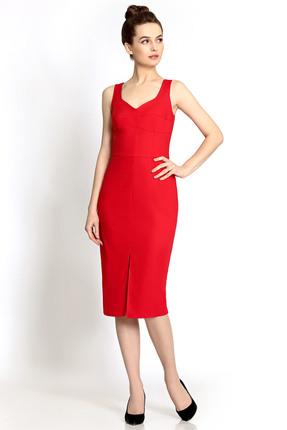 Купить Платье PIRS 322 красный, Платья, 322, красный, 49% хлопок 48% нейлон 3 % спандекс, Мультисезон