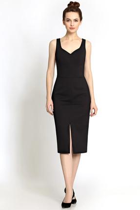 Купить Платье PIRS 322 черный, Платья, 322, черный, 49% хлопок 48% нейлон 3 % спандекс, Мультисезон