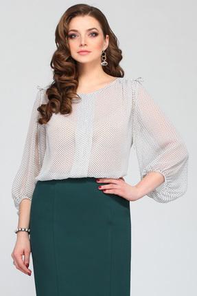Купить Блузка Matini 4957 горох , Блузки, 4957, горох , Блузочная ткань (97% пэ, 3% эластан), Мультисезон