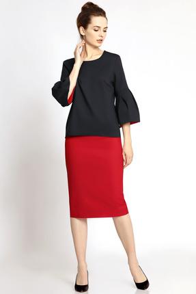 Купить Комплект юбочный PIRS 345 черно красный, Юбочные, 345, черно красный, 49% хлопок 48% нейлон 3 % спандекс, Мультисезон