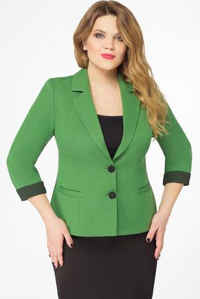 Купить Жакет Дали 3247 зеленый, Жакеты, 3247, зеленый, Вискоза 72%, пэ 17%, хлопок 8%, спандекс 3%, Мультисезон