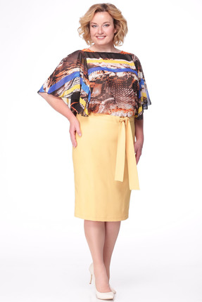 Купить Платье Michel Chic 675 желтые тона, Платья, 675, желтые тона, Состав 100% пэ, Мультисезон