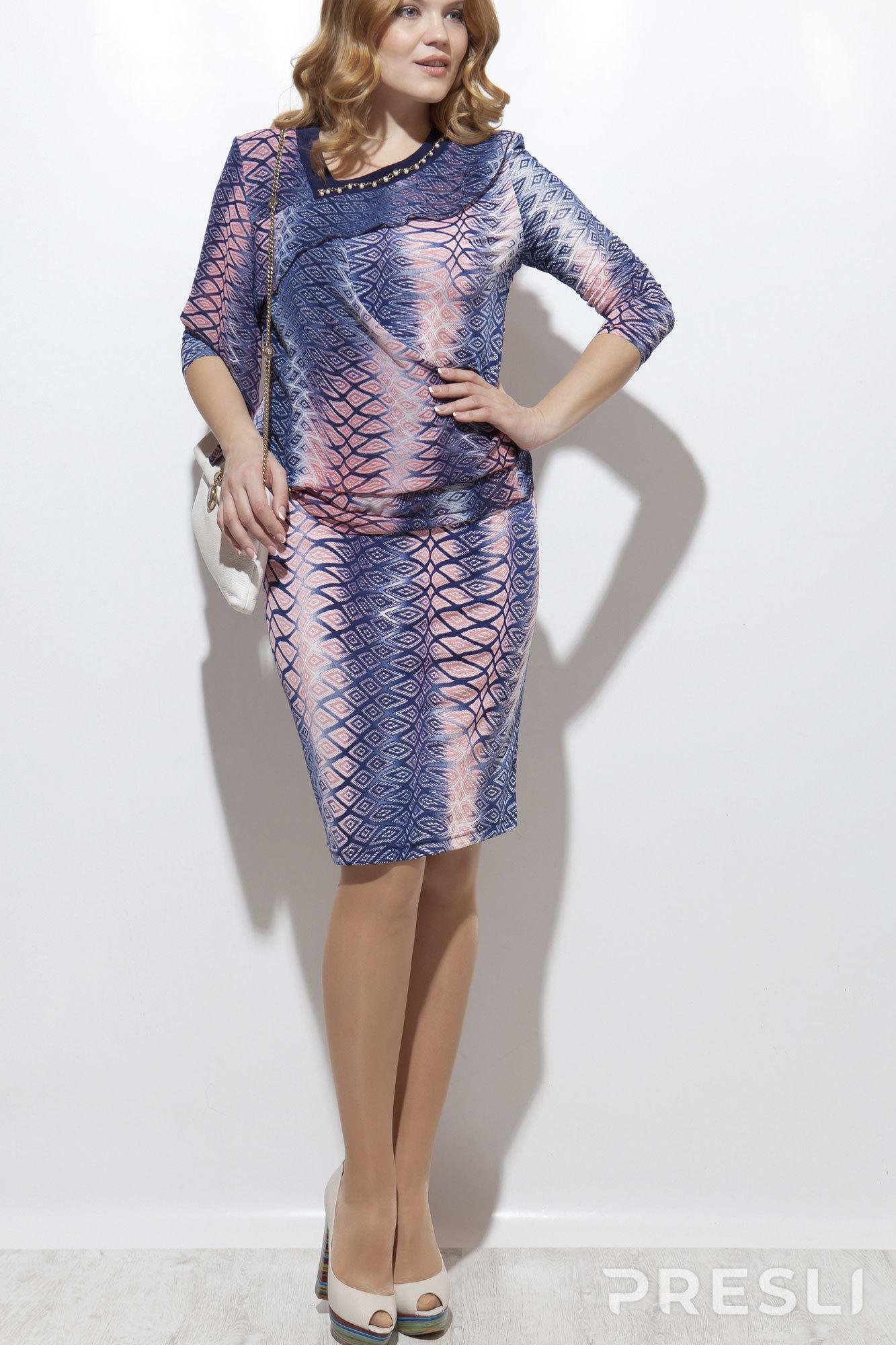 Платье Vittoria Queen 295 синий+розовый