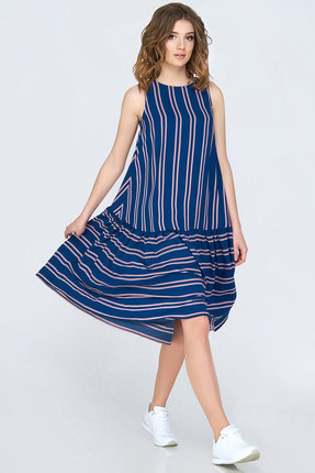 Купить Платье Denissa Fashion 1135 синий, Платья, 1135, синий, 100% ПЭ, Мультисезон