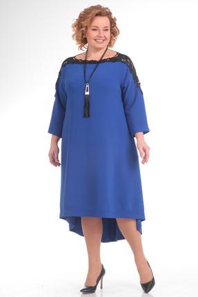 Купить Платье Pretty 680 василек, Платья, 680, василек, 96 % п/э, 4% спандекс, Мультисезон