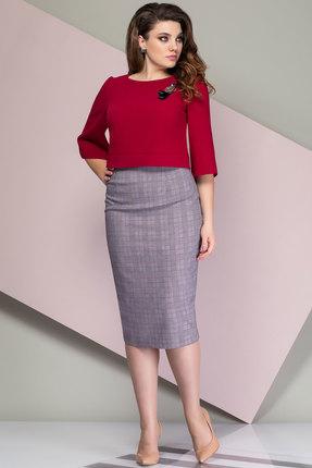 Комплект юбочный Elady 2723 серый с красным