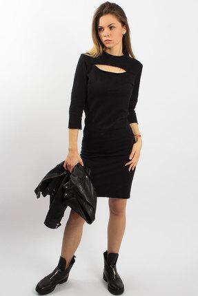 Купить Платье Mirolia 413 черный, Платья, 413, черный, Хлопок 95%+ПЭ 5%, Мультисезон