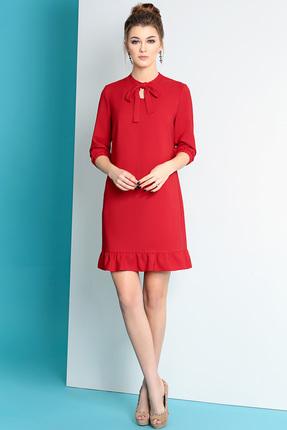 Купить Платье Olga Style с472 красный, Платья, с472, красный, пэ 66%, вискоза 29%, спандекс 5%, Мультисезон