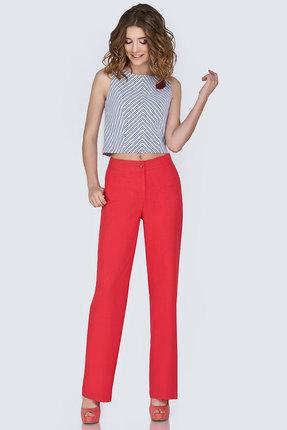 Комплект брючный Denissa Fashion 1141 светлый с красным