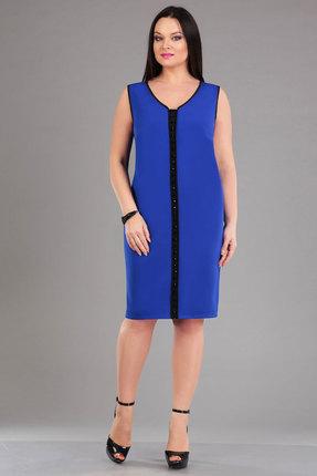 Купить Платье Ива 987 василек, Платья, 987, василек, плательная 70% п/э, 25% вискоза, 5% спандекс отделка 100% п/э, Мультисезон