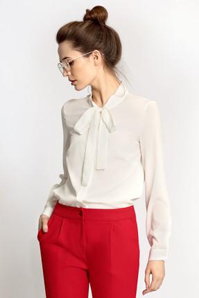 Купить Блузка PIRS 349 белый, Блузки, 349, белый, 96% полиэстер 4% спандекс, Мультисезон