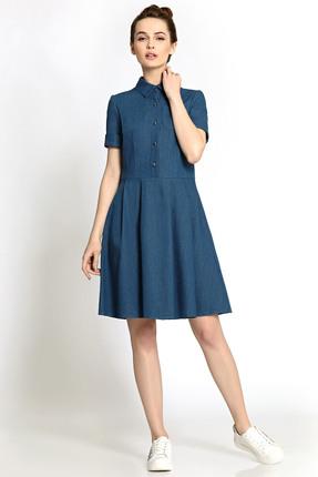 Купить Платье PIRS 350 синий, Платья, 350, синий, 100% хлопок, Мультисезон