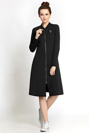 Купить Платье PIRS 352 черный, Платья, 352, черный, 49% хлопок 48% нейлон 3 % спандекс, Мультисезон