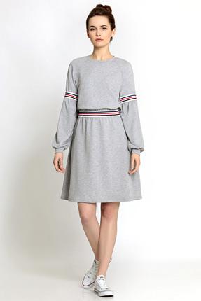 Спортивное платье PIRS 353 серый
