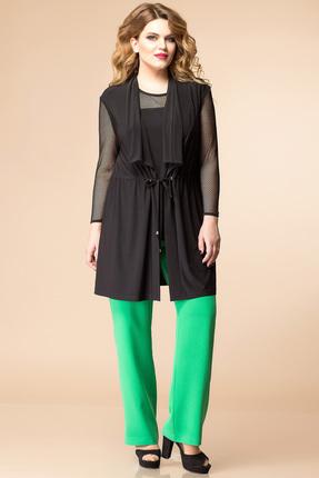 Купить со скидкой Комплект брючный Romanovich style 3-1602 черный с зеленым