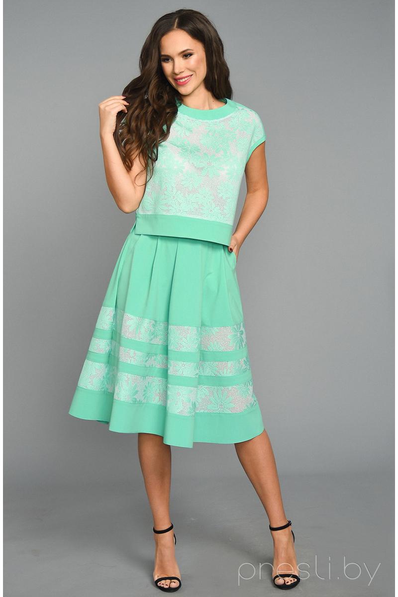 Комплект юбочный Teffi style 1199 мята