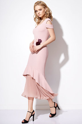 Купить Платье Anna Majewska 1090 розовый, Платья, 1090, розовый, ПЭ-40%, Вискоза-38%, Нейлон-20%, Спандекс-2%, Мультисезон