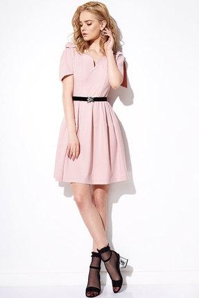 Купить Платье Anna Majewska 1091 розовый, Платья, 1091, розовый, ПЭ-40%, Вискоза-38%, Нейлон-20%, Спандекс-2%, Мультисезон