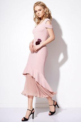 Купить Платье Anna Majewska 1092 розовый, Платья, 1092, розовый, ПЭ-40%, Вискоза-38%, Нейлон-20%, Спандекс-2%, Мультисезон