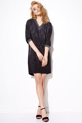 Купить Платье Anna Majewska 2062 черный, Платья, 2062, черный, ПЭ-59%, Вискоза-39%, Спандекс-2%, Мультисезон