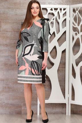 Купить Платье ТАиЕР 681 серый, Платья, 681, серый, Вискоза 40%, ПЭ 55%, Эластан 5%, Мультисезон