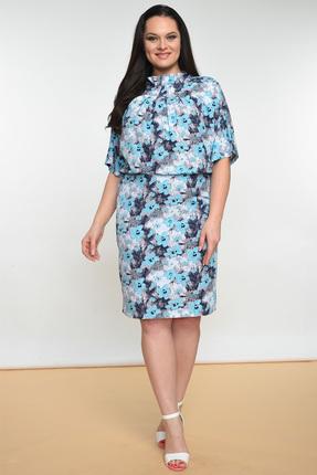 """Купить со скидкой Платье Lady Style Classic 1361 """"цветы"""""""