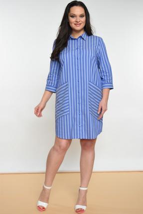 Купить Платье Lady Style Classic 1384 голубой, Платья, 1384, голубой, Хлопок 72%+ПЭ 25%+ПУ 3%, Мультисезон
