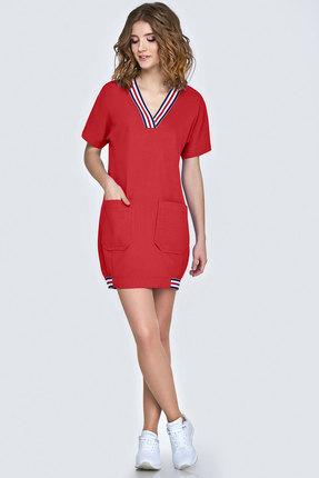 Спортивное платье Denissa Fashion 1136 красный