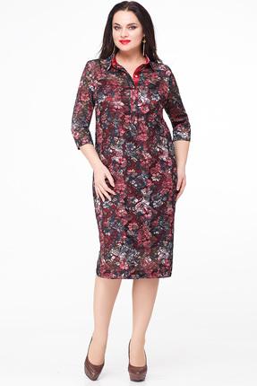 Платье Erika Style 606 бордо, Платья, 606, бордо, вискоза 72%, ПЭ 25%, спандекс 3%, Мультисезон  - купить со скидкой