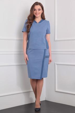 Купить Комплект юбочный Milana 906 синий, Юбочные, 906, синий, Материал костюма: Костюмно-плательная Состав: х/б-18%, спандекс-2%, вискоза-80%, Мультисезон