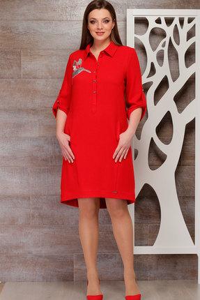 Купить Платье ТАиЕР 639 красный, Платья, 639, красный, Вискоза 60%, ПЭ 34%, Эластан 5%, Лайкра 1%, Мультисезон
