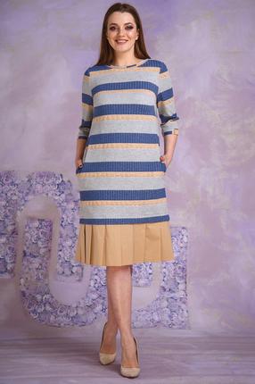 Купить со скидкой Платье Магия Моды 1366 бежево-серый