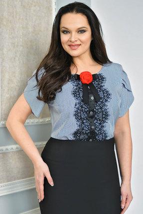 Купить Блузка Solomeya Lux 453 полоски с узором, Блузки, 453, полоски с узором, полиэстер-100%, Мультисезон