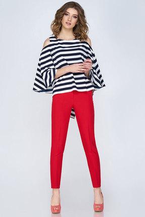 Купить Комплект Брючный Denissa Fashion 1143 Красный