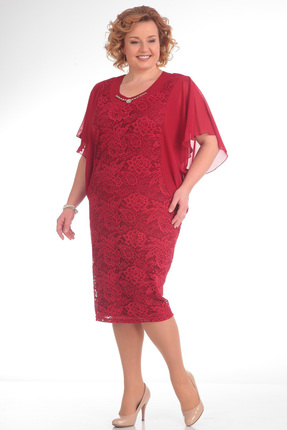 Купить Платье Pretty 148 малиновый, Платья, 148, малиновый, 95%полиэстр 5%спандекс, 100% полиэстр, Мультисезон